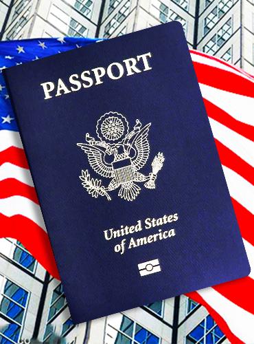 美国护照样本